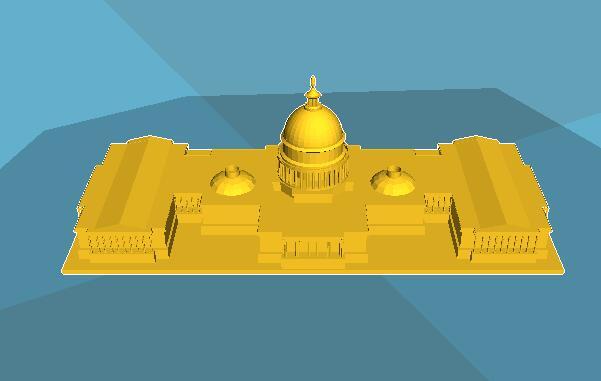 3D打印建筑模型之白宫