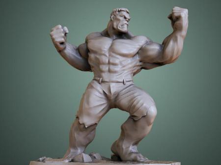 3D打印人像模型之绿巨人