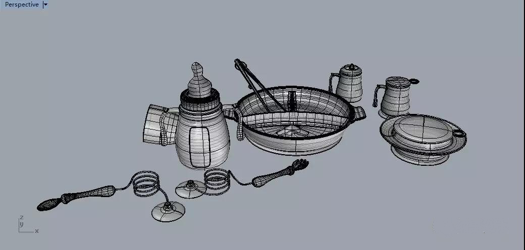 3d打印儿童餐具手板模型服务