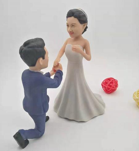 结婚纪念玩偶真人人像打印