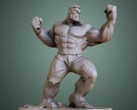3D人像模型打印之绿巨人