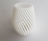 国产华曙白色尼龙材料打印