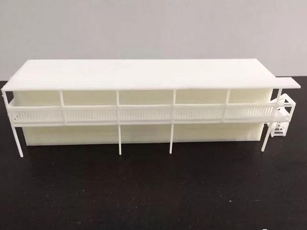 3D打印教学楼建筑模型