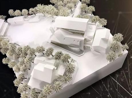 3D打印雪景房屋沙盘 模型